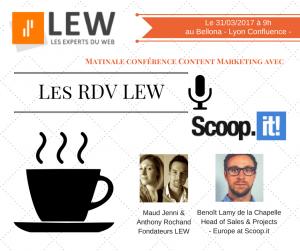 Rdv LEW 1 Matinale conférence content marketing avec Scoopit