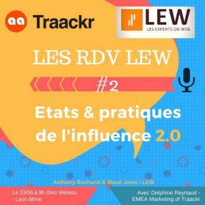 RDV LEW Matinale conférence Influence 2.0 avec Traackr